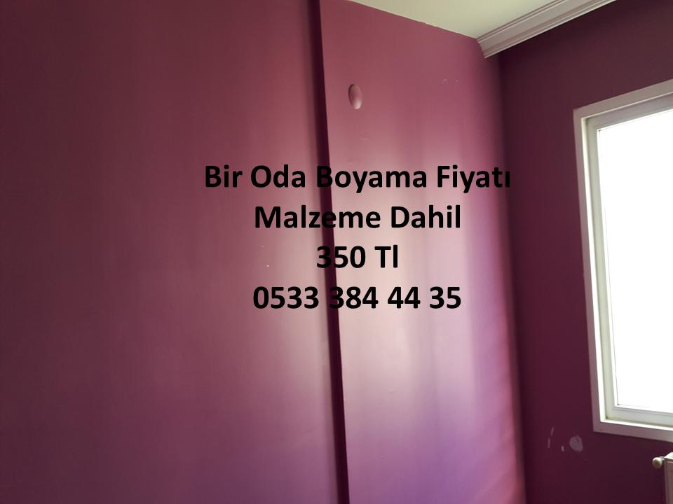 Bir Oda Boyama Fiyatı 4 Usta 1 Günde Boya 0533 384 44 35